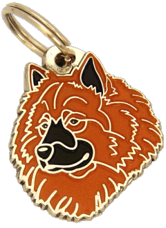 EURASIER RED - pet ID tag, dog ID tags, pet tags, personalized pet tags MjavHov - engraved pet tags online